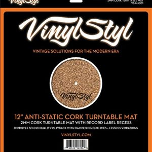Vinyl Styl Anti-Static Cork Turntable Mat