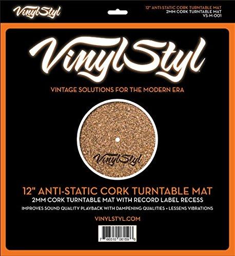 Vinyl Styl Anti-Static Cork Turntable Mat